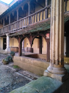 The cloisters date from the 13th Century and now house the Maison de Vins de Bergerac.